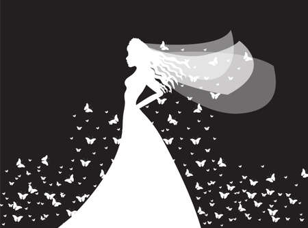 love silhouette: bride