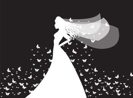 wedding dress silhouette: bride