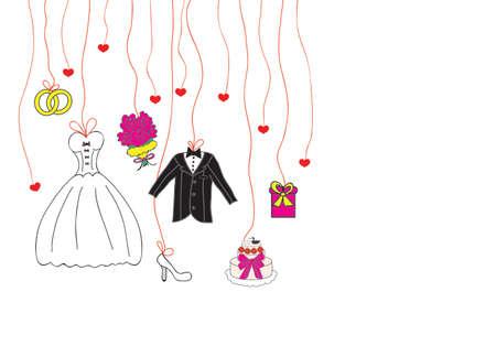 wedding set Иллюстрация