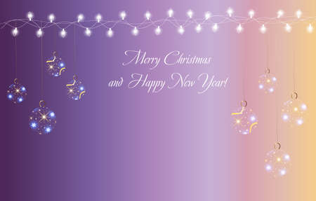 rn: Christmas and New Year card Illustration
