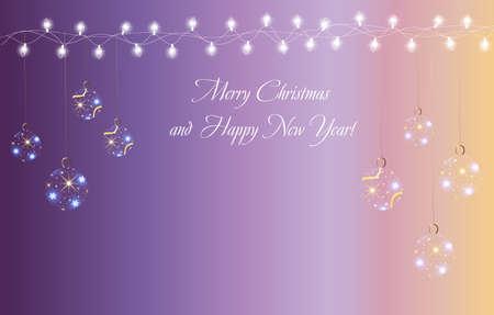 illustratio: Christmas and New Year card Illustration