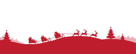 rn: Santa Claus with reindeer banner