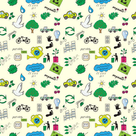 quality icon: seamless pattern ecology
