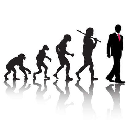 進化  イラスト・ベクター素材