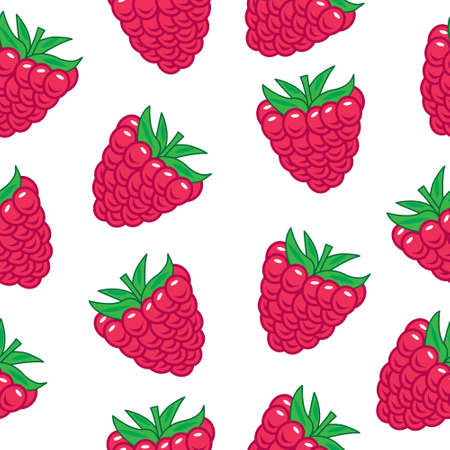 raspberry pink: Raspberry seamless pattern