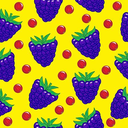 seamless: blueberry seamless pattern Illustration