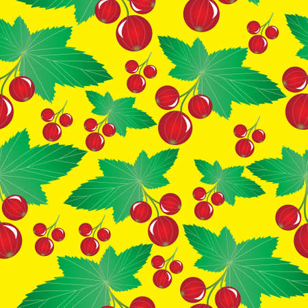 Currant seamless pattern