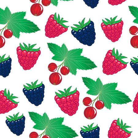 orest berries seamless pattern