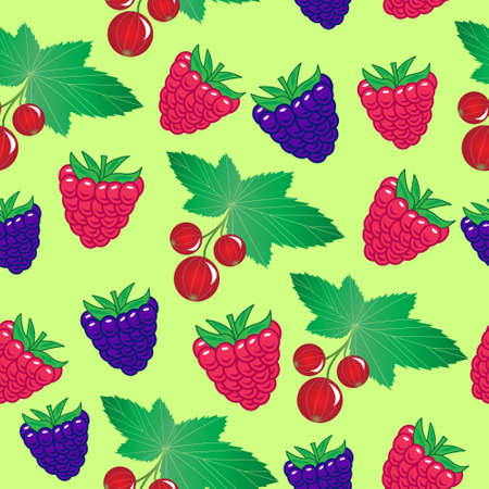 forest berries seamless pattern