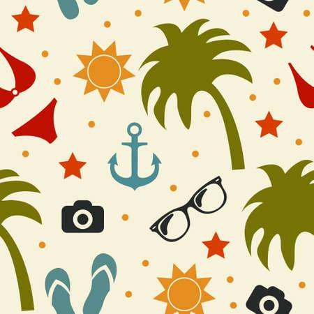sand background: Beach seamless texture, summer background, season, beach, vector illustration Illustration