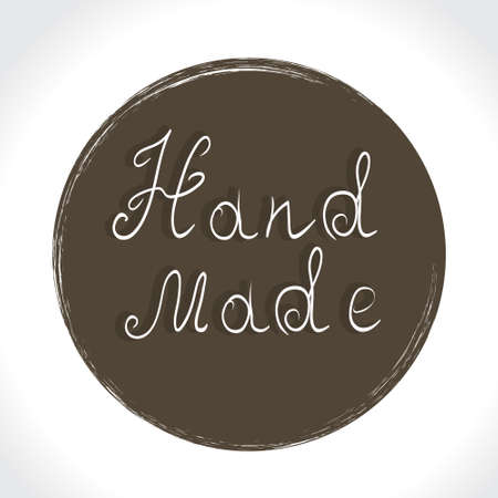home product: Vintage hand made labels. Home Made and Hand Made Product Stamps. Hand lettering calligraphic inscription. Vector illustration.