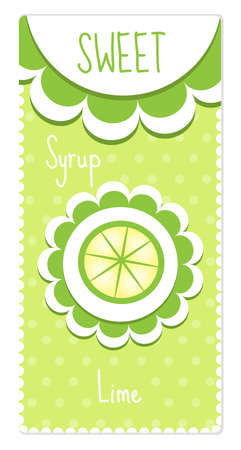 quartered: Sweet fruit labels with lime label