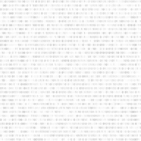 binary data: Binary Code, Algorithm binary, data code, encryption and encoding, row matrix, vector illustration