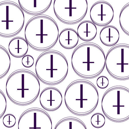 gothic style: Minimalist pattern with the cross, geometric shapes. Modern background. Hipster style texture. Gothic style fabric pattern. Vector illustration Illustration