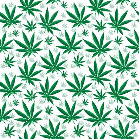 hemp: Medical cannabis seamless texture. Hemp background. wallpaper. Vector illustration