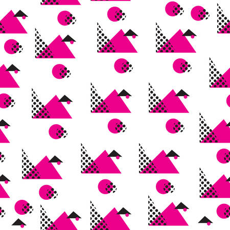 memphis: Minimalist pattern with geometric shapes. Modern background. Hipster style texture. Memphis style. Vector illustration
