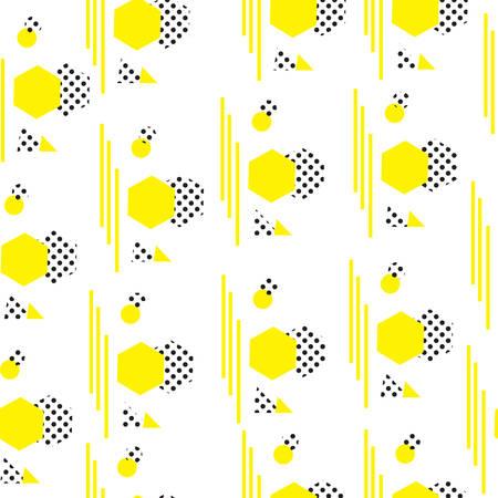 motif minimaliste avec des formes géométriques. fond moderne. style texture Hipster. le style Memphis. Vector illustration