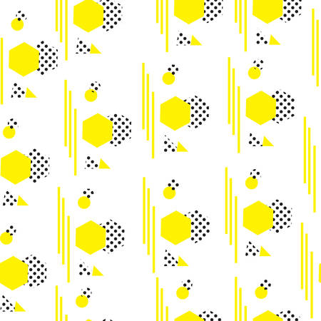 Minimalist pattern with geometric shapes. Modern background. Hipster style texture. Memphis style. Vector illustration
