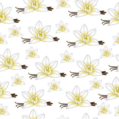 flor de vainilla: flor de la vainilla perfecta textura, fondo de vainilla, fondo de pantalla. ilustraci�n vectorial Vectores