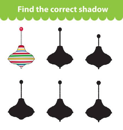molinete: juego educativo para ni�os, encontrar la silueta de la sombra correcta. molinete de juguete, ajuste el juego para encontrar el tono adecuado. ilustraci�n vectorial Vectores