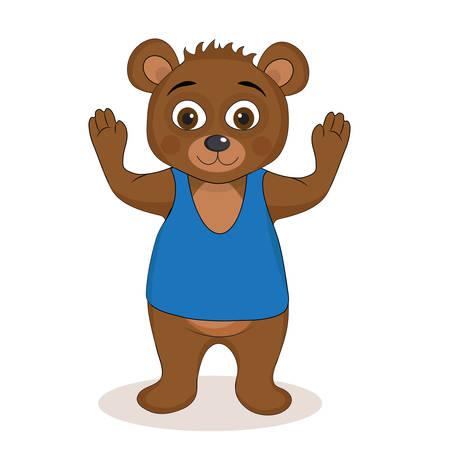 Cute teddy bear mascot, teddy bear childrens character. Vector illustration