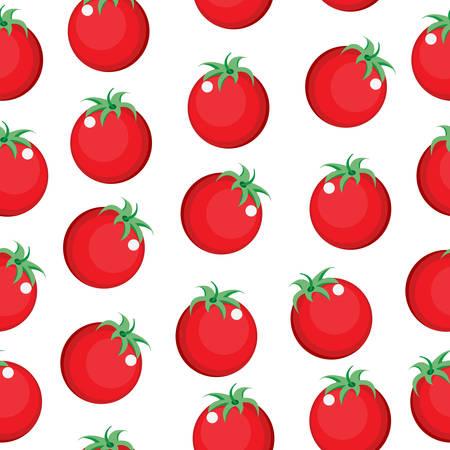 tomate cherry: Tomate textura patrón transparente. Tomate papel tapiz de fondo. ilustración vectorial