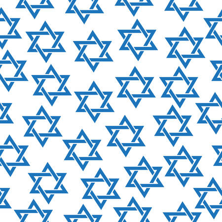 jewish star: Seamless pattern of the Star of David. Simfol Jewish Star of David pattern, texture, wallpaper. Vector illustration