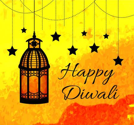 ethnicity happy: Happy Diwali Indian Festival of Lights. Diwali greeting card, invitation. Vector illustration