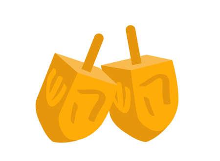 chanukkah: Dreidel icon. Dreidel flat style. Dreidel is isolated on a white background.