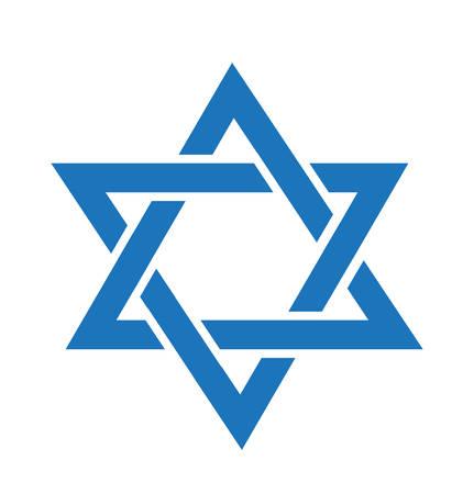 yom kippur: Star of David icon. Star of David flat style. Star of David isolated on white background. Illustration