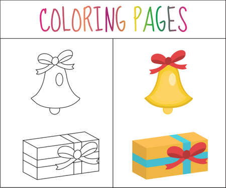 Página De Libro Para Colorear. Pan De Jengibre De Navidad Y Velas ...