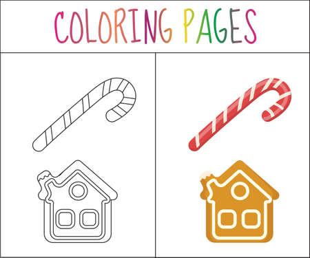 Colorear Página Del Libro. Establece Jánuca. Croquis Y Versión En ...
