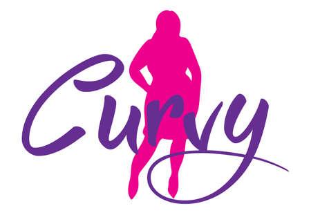 size: plus size woman. Curvy woman symbol