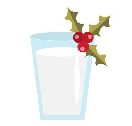 blended: Milk for Santa vector icon. Isolated on white background