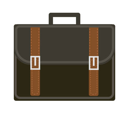 graduation suit: Business suitcase icon flat style. Portmanteau isolated on a white background. Vector illustration