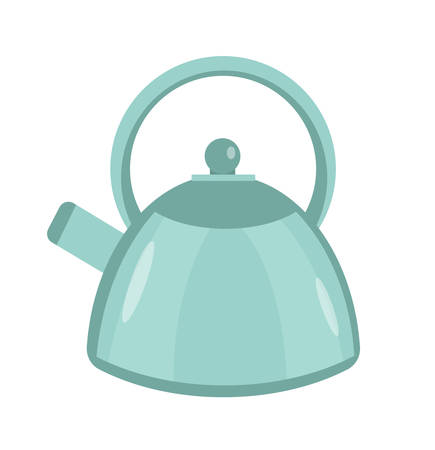 Kettle icon vector flat style. Isolated on white background. Vector illustration