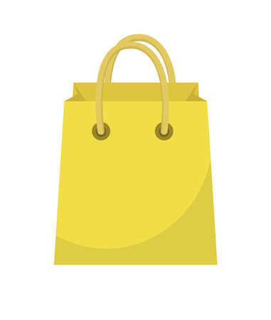 Shopping bag icon flat style. Colorful shopping bag sign symbol. Paper bags isolated on a white background. Gift package. Vector Illustration