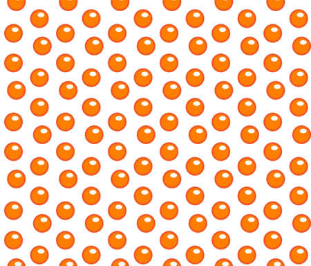 Red caviar seamless pattern. Roe endless background, texture, wallpaper. Vector illustration