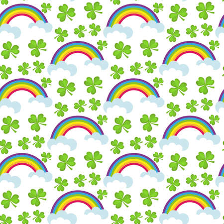 St. Patricks Day seamless pattern. Endless background texture. Vector illustration