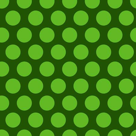 Polka dot Green seamless pattern. Endless background texture. Vector illustration