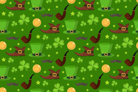 st patrick s day: St. Patrick s Day seamless pattern. Endless background texture. Vector illustration
