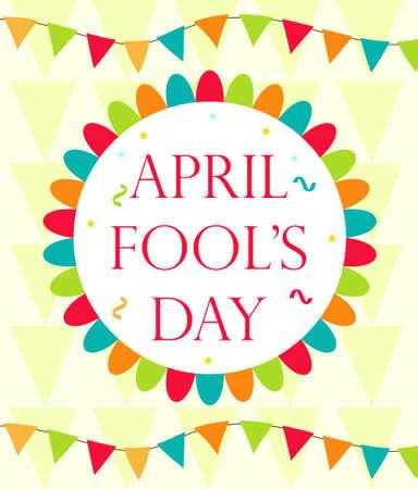 April Fools Day vector. Holiday laughing card, poster. Vector illustration Ilustração