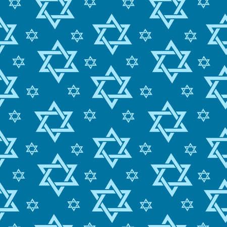 Gelukkig Israël Independence Day naadloze patroon met vlaggen en bunting. Joodse vakantie eindeloze achtergrond, textuur. Joodse achtergrond. Vector illustratie Vector Illustratie