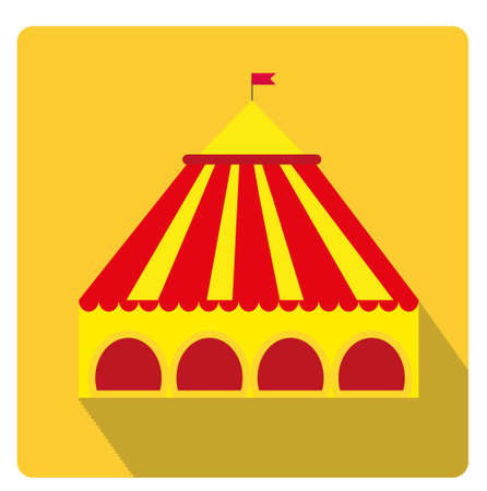 Circus pavilion yellow tent icon flat style with long shadows isolated on white background  sc 1 st  123RF.com & Circus Or Carnaval Tent Or Pavilion Royalty Free Cliparts Vectors ...