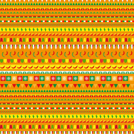 Cinco de Mayo seamless pattern with a traditional ornament. Mexican ethnic, tribal endless