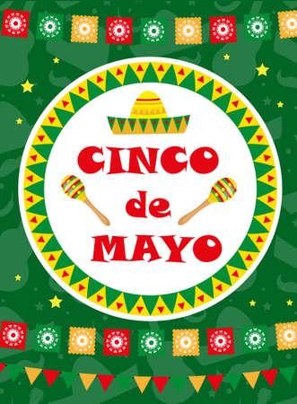 Cinco de Mayo carte de voeux, modèle flyer, affiche, invitation.