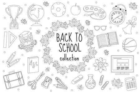 Volver A La Escuela En La Pizarra Y Artículos Para El Estudio ...