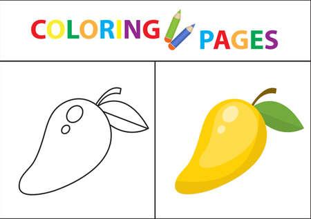 Libro De Colorear Esquema Del Bosquejo Y Versión En Color. Colorear ...