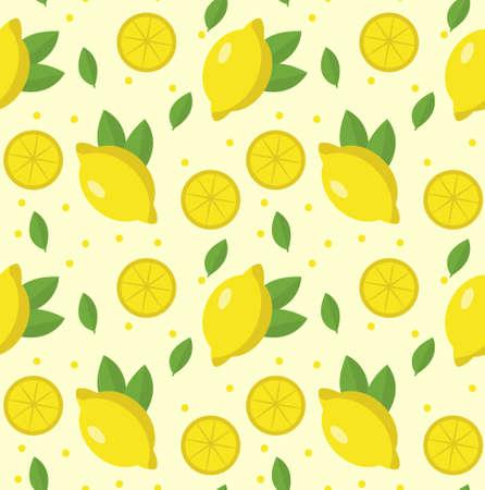 lemon seamless pattern. limonade sans fin texture . fond de fruits. illustration vectorielle Vecteurs
