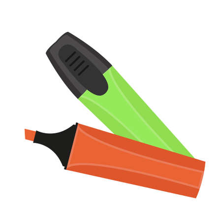 Marker pen icon flat, cartoon style. Isolated on white background. Vector illustration Stock Vector - 83209804